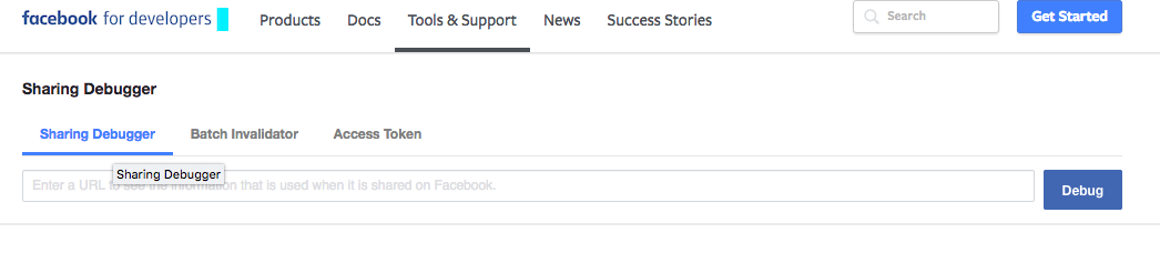 Blog Tools- Facebook Debugger
